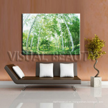 Pintura del árbol para la decoración casera cuadro del bosque impresión digital en lona