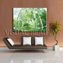 Дерево Картина для домашнего украшения лесная картинка цифровая печать на холсте