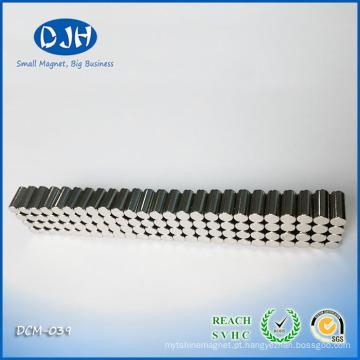 4.3 * 9 mm magnético brinquedo bloco ímã partes magnetização radial