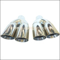 2.25 INCH STAINLESS STEEL,ROUND CONE EXHAUST TAIL PIPE TRIM TIP R AND L HAND