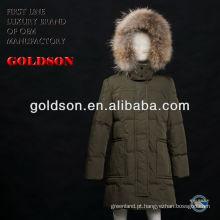 Casaco de miúdo de inverno de casaco comprido para criança de design de moda