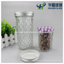 200ml 520ml Clear Empty Tapered Drinking Glass Mason Jar