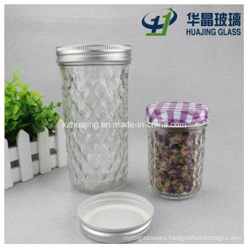 200ml 520ml Clear Empty Tapered Drinking Glass Mason Jar