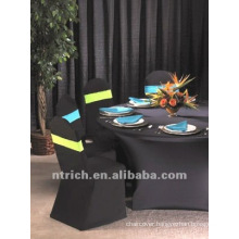 black color stretch chair cover,CT131,fit for all the chairs