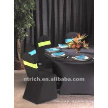 cor preta tampa de cadeira, CT131, apto para todas as cadeiras do estiramento