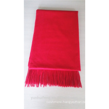 Superior red multi-functional cashmere shawl