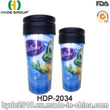 400ml Wholesale Fashionable Plastic Coffee Mug with Lid (HDP-2034)