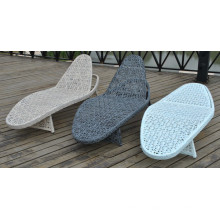 Outdoor Modern Chaise Mesh Lounge Rattan