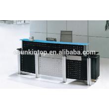Empfang Glas Schreibtisch für Büro gebraucht, Foshan Büromöbel Hersteller, Verkauf Büromöbel (P8001)