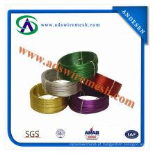 Cabide de arame revestido de PVC preço barato (ADS-PW-01)