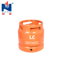 6KG(14.4L) mini portable steel gas cylinder for camping