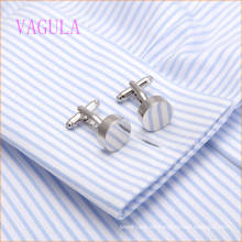 VAGULA 2015 Fashion Silver Plated Smooth Gemelos Cobre Gemelos