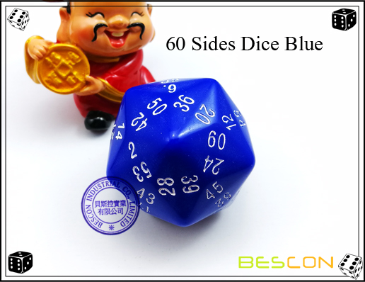 60 Sides Dice Blue