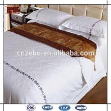 Luxo cinco estrelas hotel 100% poliéster poliéster cama lenço roupa de cama