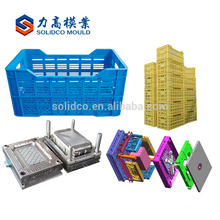 China plastic logistic mold stackable crates injection mould