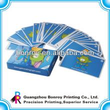 impression de carte de jeu de carte de qualité premium de taille standard