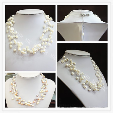 Multi Strands Fashion Star Freshwater Pearl Necklace