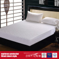 Protetor de colchão de estilo lençol material de tecido de algodão