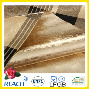 PVC Double Side Gold Embossed and Printed Tablecloth