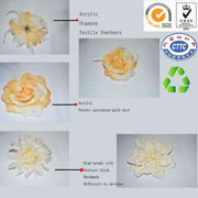 MJ-010 Do hair ring hair accessories and fashion handmade flowers/handmade silk fashion flowers