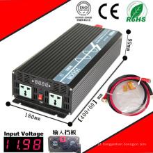 Inversor solar de 12VDC DC-AC 1000W ou 24VDC ou 48VDC ao inversor puro da onda de seno 110VAC ou 220VAC