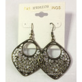 Retro Lace Earrings with Metal