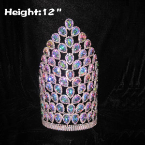 12in Tall Crystal Big Diamond Pageant Crowns
