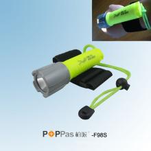 120 люменов CREE XP-E R2 Профессиональный дайвинг светодиодный фонарик (POPPAS-F98S)