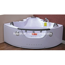 White Acrylic Sanitary Whirlpool Massage Bathtub (OL-003)