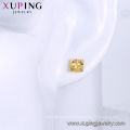95957 xuping simple stylish 24k gold color environmental copper ladies stud earrings