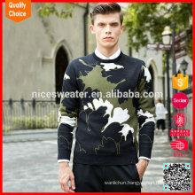 Hot selling customized heavy wool sweaters men