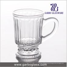 4oz copo de chá de vidro gravado