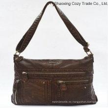 Mujer popular PU Messenger Bag