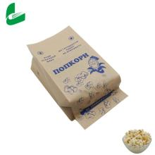 Custom-made kraft paper bags for microwave popcorn packaging