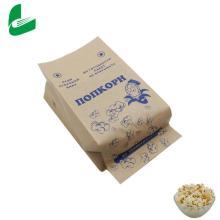 Sacs en papier kraft sur mesure pour emballage de pop-corn micro-ondes