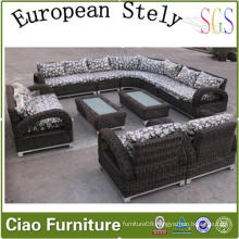 European Home Rattan Furnitures Living Room Sectional Sofa (CF1242)