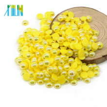 Yiwu Hot Sale Flatback Half Round Nail Loose Pearls Beads for Crafts , A9-CitrineAB