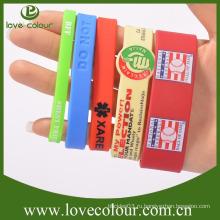 Дешевые пользовательских логотип силиконовый браслет, рекламные Печатные силиконовые браслеты