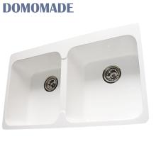 Resina acrílica de superfície sólida / granito compósito / acrílico quartzo usado pias de frente pias de cozinha