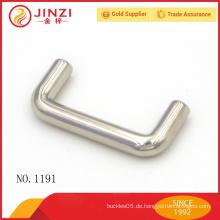 Einfache Design quadratischen Leder Nickel Tasche Griffe Großhandel