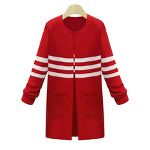 red cardigan sweater for women