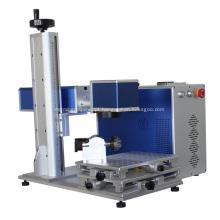 Máquina de marcação a laser de fibra de tamanho pequeno para metal
