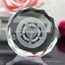 Paperweight de cristal da lembrança do projeto o mais novo