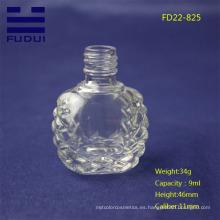 Botella de cristal de encargo formada única del pulimento de clavo del año 2015 para la venta