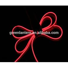110 В/220 В холодный белый/красный/синий/зеленый гибкие светодиодные неоновый свет веревочки для крытый Открытый украшения праздника Валентина освещения