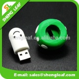 mini cheap rubber cartoon character cute usb flash drive