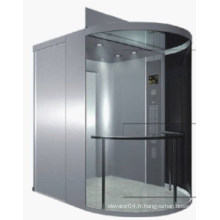 Semi-Circle Vvvf Controlglass Panoramic Elevator
