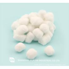 Boules de coton blanc médical jetables en Chine