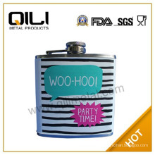 Classical usa fashion wrapped lovely ladies hip flask