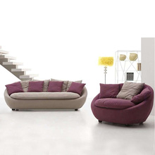 4 Secter Sofa Set In Purple Upholstery Cushion